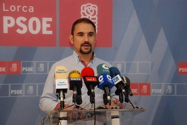El candidato del PSOE a la Alcaldía de Lorca, Diego José Mateos