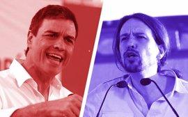 Pedro Sánchez y Pablo Iglesias se verán este miércoles por primera vez
