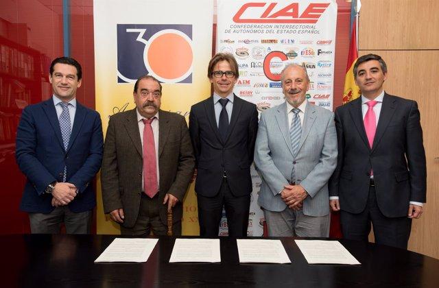 BMN firma convenios de colaboración con CIAE y Copyme