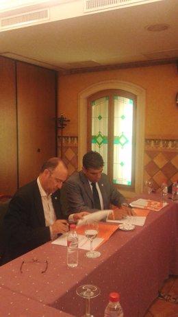 Rodríguez-Comendador (PP) y Cazorla (C's), en su segunda reunión