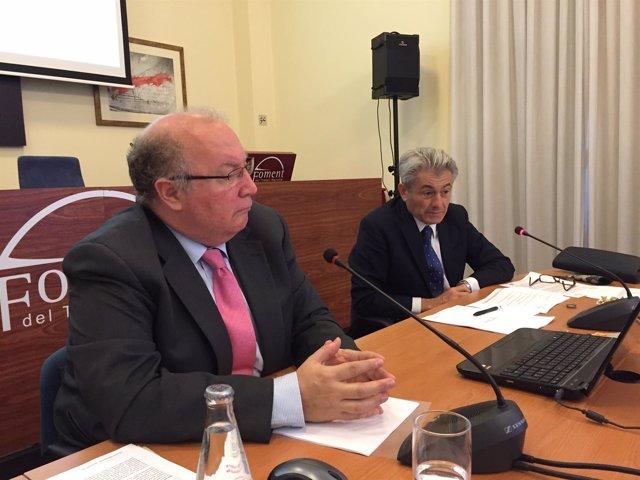 Salvador Guillermo y Valentí Pich (Fomento del Trabajo)