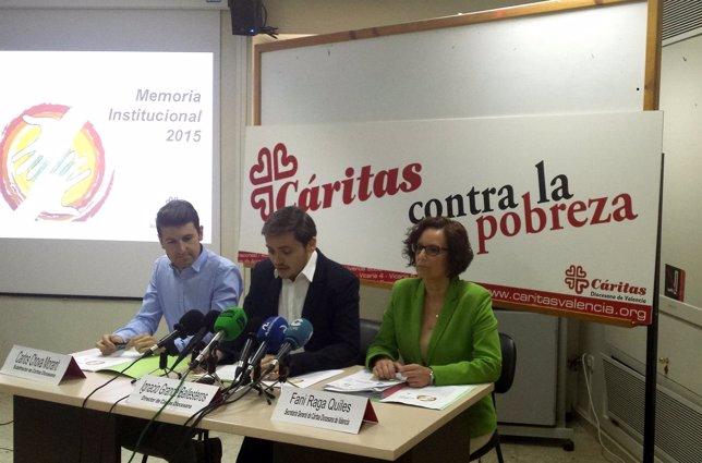 Presentación de la memoria de Cáritas 2014