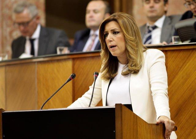 Susana Díaz en su último discurso de investidura