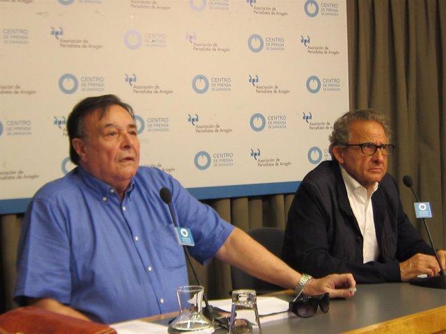 Los mililtante históricos del PSOE-Aragón, Antonio Piazuelo y Ramón Anía