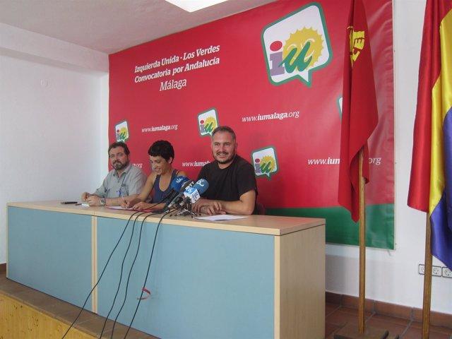 Vicesecretario PCA Juan de Dios Villanueva, Toni Morillas y Efraín Campos