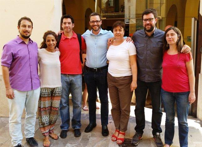 Reunión de MÉS per Palma, Som Palma y PSIB