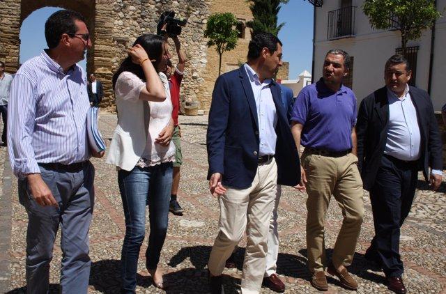 Juanma Moreno, PP-A, con presidentes provinciales del PP en Antequera