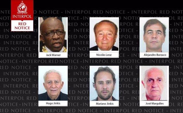 Interpol emite orden contra ex directivos de la FIFA