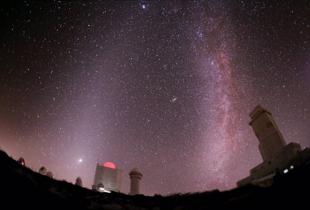 Imagen del cielo desde el Observatorio del Teide