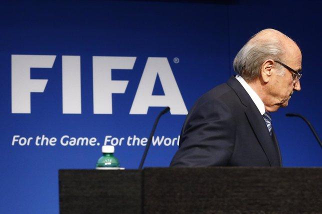 El presidente dimitido de la FIFA, Joseph Blatter