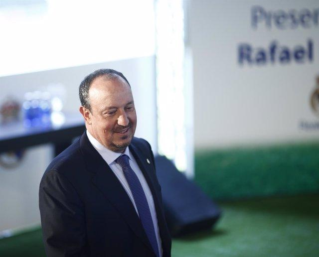 Rafael Benítez en su presentación como entrenador
