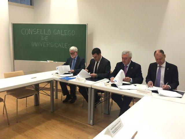 Firma convenio Xunta universidades 12 millones