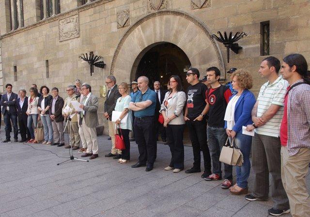 Los concejales de Lleida condenan la agresión a un joven independentista