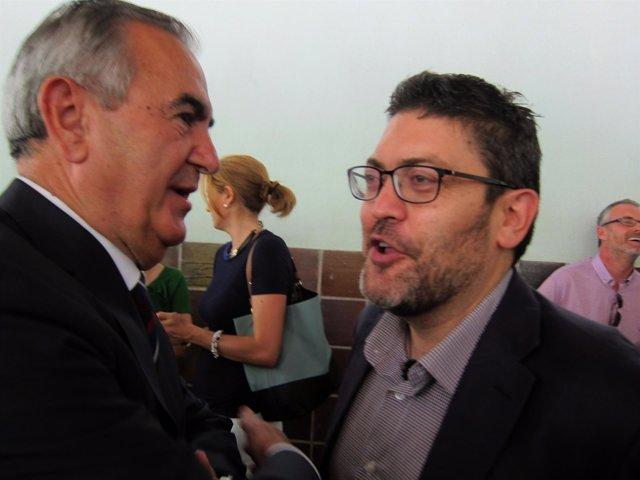 Miguel Sánchez de C's con Tovar tras recoger credencial como diputado electo