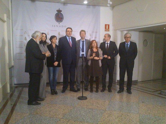 El grupo parlamentario de CiU en el Senado