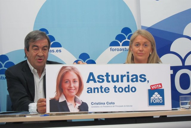Francisco Álvarez-Cascos y Cristina Coto