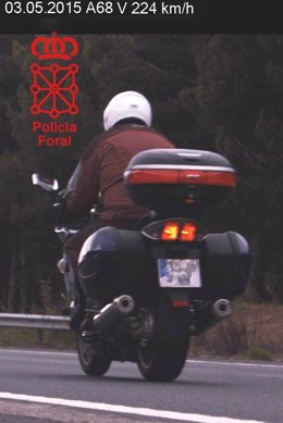 Imputado el conductor de una moto que circulaba a 224 km/h.