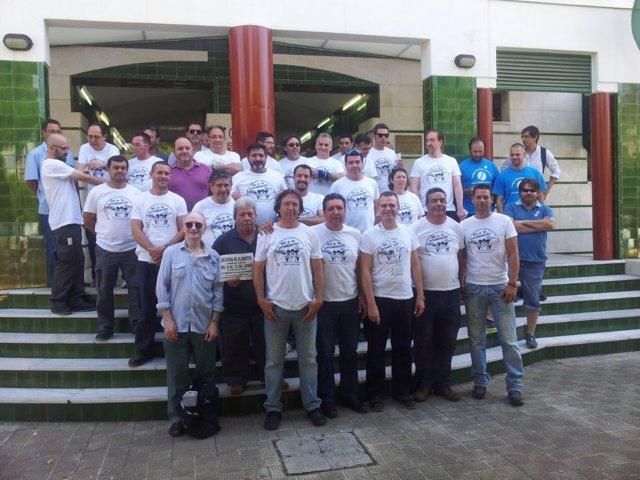 Donación protesta de los trabajadores de mantenimiento