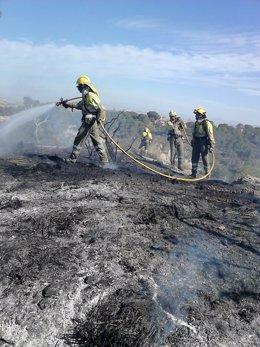 Imagen del incendio de Carrascoy, en Murcia