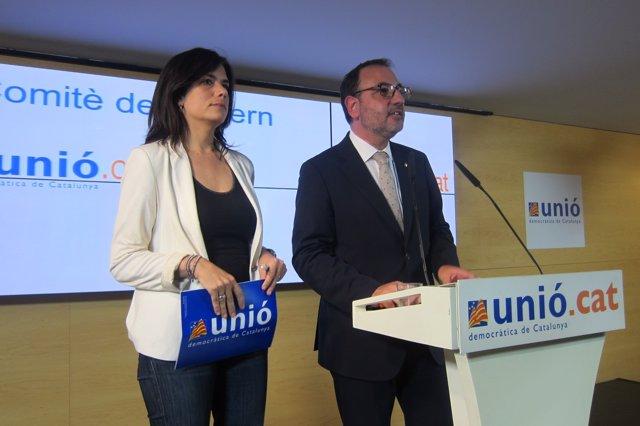 Ramon Espadaler Y Montserrat Surroca (UDC) tras aprobarse la pregunta