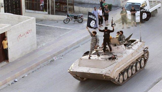 Militantes del Estado islámico en Siria