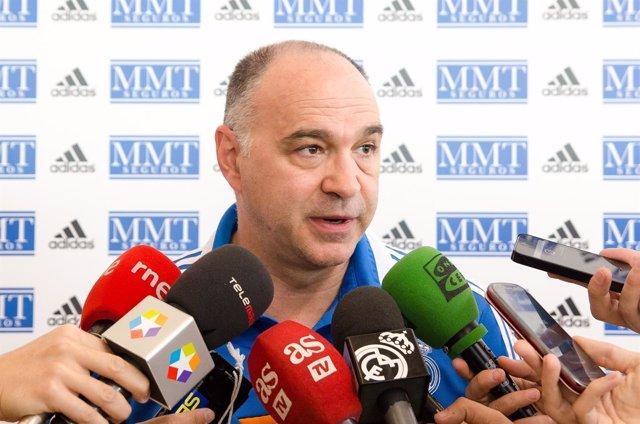 Pablo Laso en rueda de prensa
