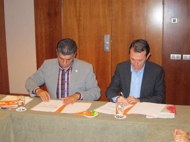 Miguel Cazorla (C's) y Juan Carlos Pérez Navas (PSOE)