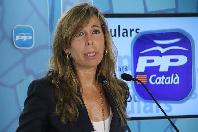La líder del PP catalán, Alícia Sánchez-Camacho