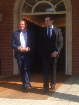 Pedro Antonio Sánchez y Rajoy en La Moncloa