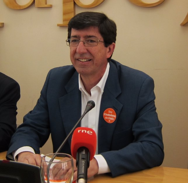 Juan Marín, portavoz parlamentario de Ciudadanos en Andalucía