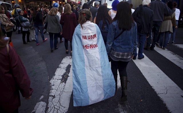 Protesta en Argentina contra la violencia de género 'Ni Una Menos'