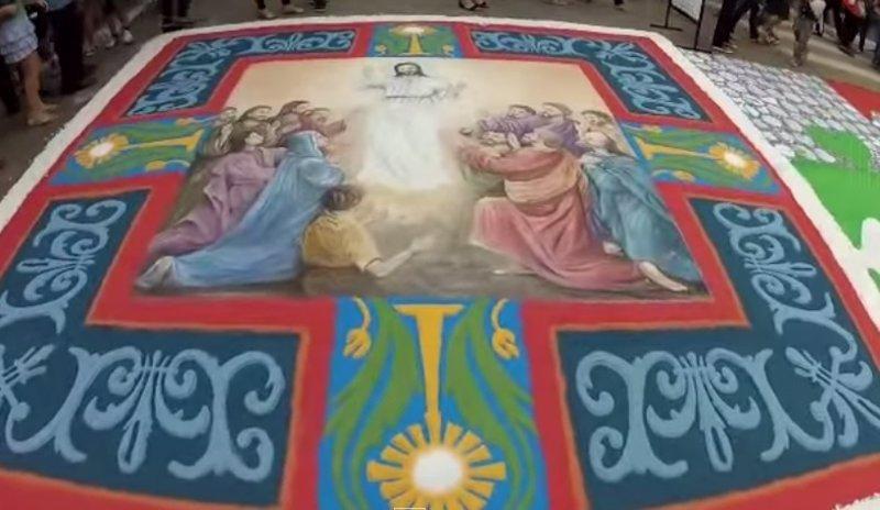 El arte de las alfombras del corpus christi en brasil for El paraiso de las alfombras