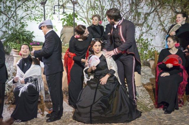 Una de las escenas del musical en el Palacio de Viana