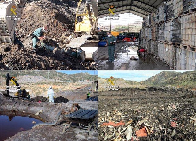 Imágenes de la empresa de gestión de residuos intervenida