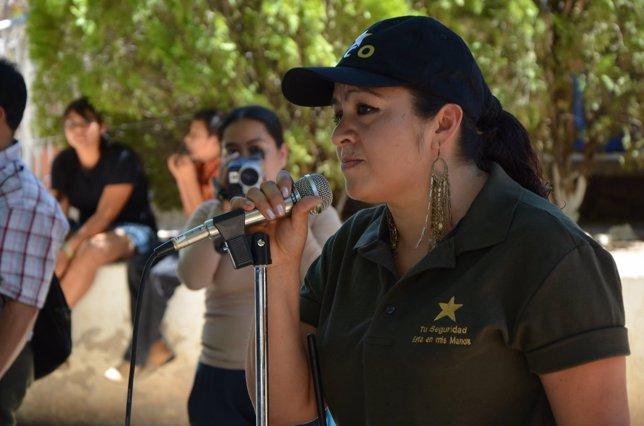 Coordinadora de la Policía Comunitaria de Olinalá, Nestora Salgado