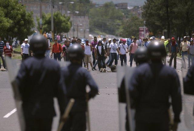 Protestas campesinas en Tegucigalpa