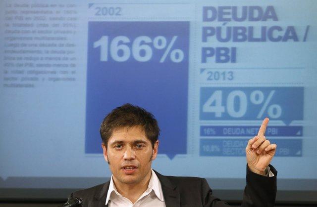 Axel Kicillof habla sobre los fondos buitre
