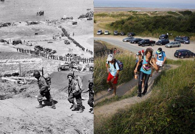 Desembarco de Normandía (Antes y después)