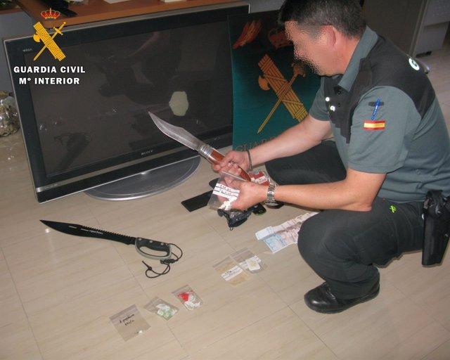 Punto de venta de droga en Baena (Córdoba)