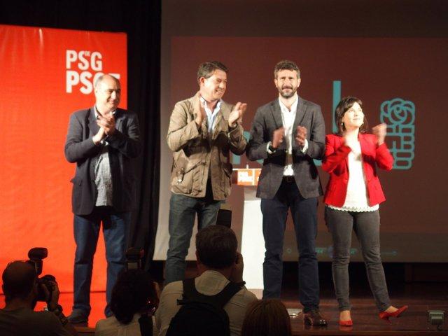 El candidato del PSdeG a la Alcaldía con Besteiro