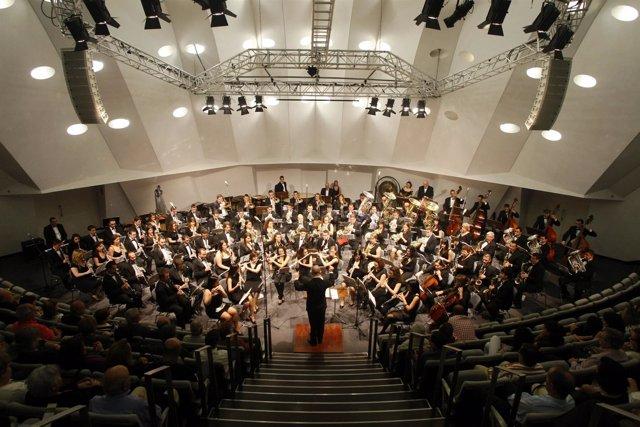 Concierto de bandas de música en el Auditorio