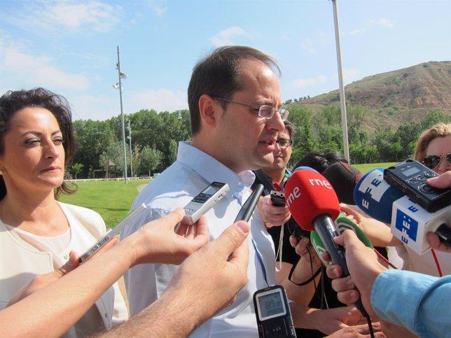 César Luena en Logroño
