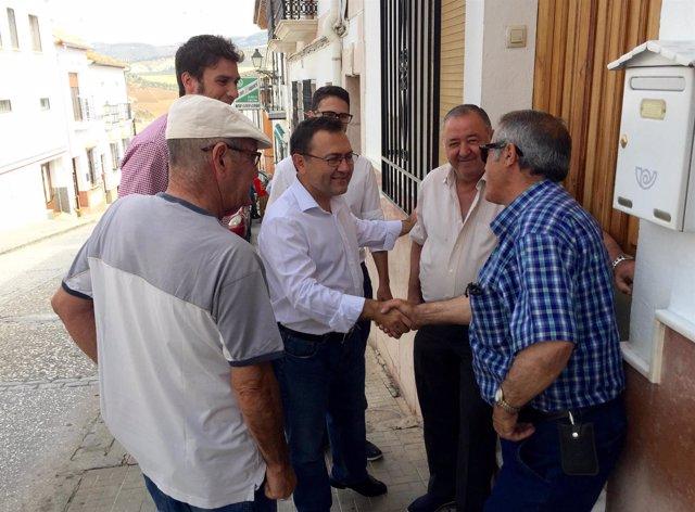 Miguel Ángel Heredia, PSOE, en Casabermeja
