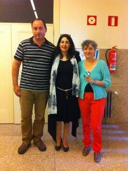 Georgios Archontopoulos, Alexandra Krasopoulou y Lidia Senra