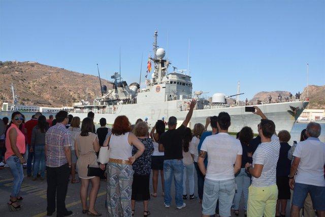 El buque en Cartagena