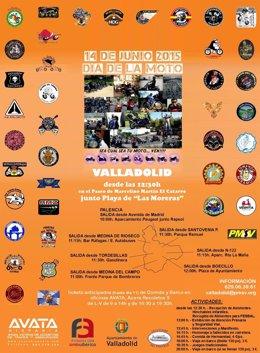 Cartel del Día Nacional de la Moto en Valladolid