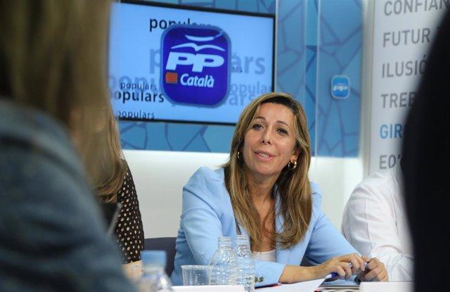 La presidenta del PP, Alícia Sánchez-Camacho