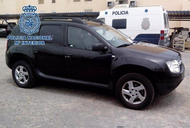 Vehículo robado en Madrid y recuperado en Melilla