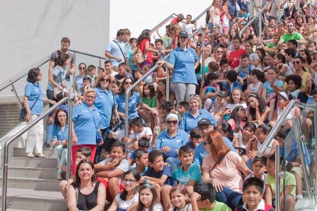 Actividad de voluntariado organizada por La Caixa en Sevilla