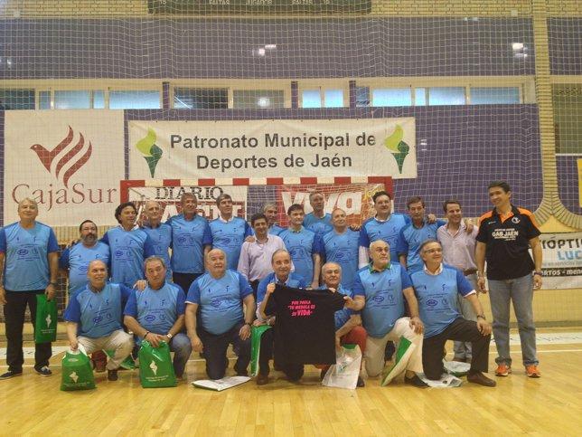Homenaje a jugadores de balonmano de Jaén